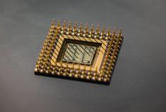 Der alte und Weinlesecomputer-chip, Abschluss oben Lizenzfreies Stockbild