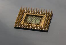 Der alte und Weinlesecomputer-chip, Abschluss oben Lizenzfreie Stockfotos