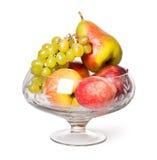 Der alte Vase mit Frucht Stockbilder