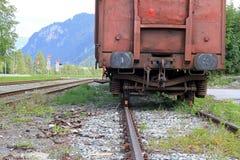 Der alte verrostete Zug Lizenzfreies Stockfoto