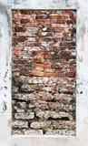 Der alte Wandziegelstein. Stockbild