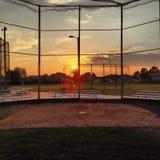 Der amerikanische Spiel-Baseball Stockbild
