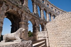 Der Amphitheatre Lizenzfreies Stockbild