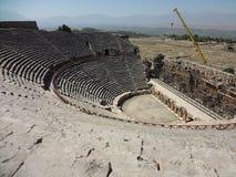 Der Amphitheatre von Hierapolis Stockfotografie