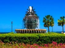 Der Ananas-Brunnen in Charleston, Sc stockfoto