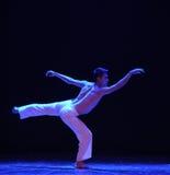 der Anblick von irgendjemandes Rückseite - Schrei-moderner Tanz Lizenzfreies Stockbild