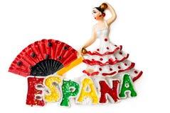 Der Andenkenmagnet - der spanische Tänzer Lizenzfreies Stockbild