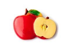 Der Andenkenmagnet - ein Apfel Lizenzfreie Stockbilder