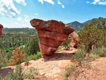 Der andere ausgeglichene Felsen in Colorado Springs lizenzfreies stockfoto