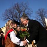 Der Anfang der Präsidentenkampagne durch BronisÅ-'Aw Komorowski Stockfotografie