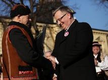 Der Anfang der Präsidentenkampagne durch BronisÅ-'Aw Komorowski Lizenzfreies Stockbild