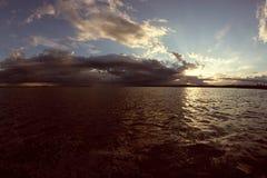Der Anfang des Sturms auf dem Meer Stockfotos