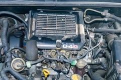Der Anschlagallgemeinschiene Direkteinspritzung 4 Toyotas D-4D Dieseldieselmotor in Toyota-Auto lizenzfreies stockbild