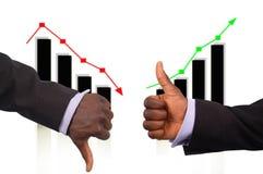 Der Anstieg und der Fall Lizenzfreie Stockfotos