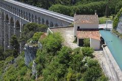 Der Aquädukt von Roquefavour (13, Frankreich) Stockbilder