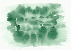 Der Aquarellsteigung des grünen Grases horizontale gezeichneter Hintergrund Hand Stockbild