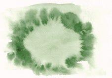 Der Aquarellsteigung des grünen Grases horizontale gezeichneter Hintergrund Hand Mittleres Teil ist heller als andere Seiten des  Vektor Abbildung