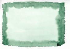 Der Aquarellsteigung des grünen Grases horizontale gezeichneter Hintergrund Hand Mittleres Teil des Rahmens ist heller als andere Lizenzfreie Stockfotografie
