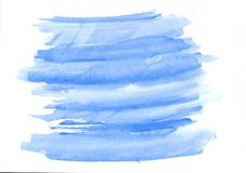 Der Aquarellsteigung des Himmelblaus horizontale gezeichneter Hintergrund Hand Lizenzfreie Abbildung