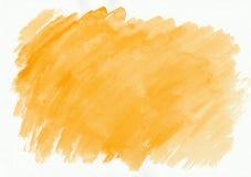 Der Aquarellsteigung der Orange oder des Ingwers horizontale gezeichneter Hintergrund Hand Stockbild