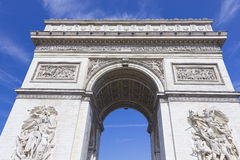 Der Arc de Triomphe stockfotos