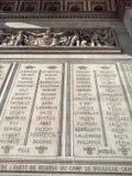 Der Arc de Triomphe Paris stockbilder
