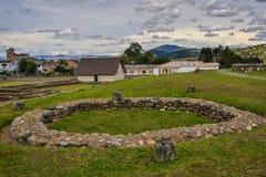Der archäologische Park in Cuenca, Ecuador lizenzfreies stockfoto