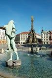 Der ARION-Brunnen am oberen Quadrat in Olomouc Stockfoto
