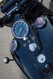 Der Armaturenbrett und der Kraftstofftank des Motorrades Harley-Davidson Stockbilder