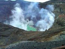 Der Aso-Vulkan in Japan stockfotos