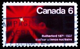 Der Atom Rutherford 1871-1937, Geburts-Jahrhundert von Lord Rutherford-Wissenschaftler serie, circa 1971 lizenzfreie stockbilder