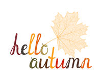 Der Aufschrifthallo Herbst Lizenzfreie Stockbilder
