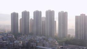 Der Aufstiegszustands-Geb?ude der chinesischen Stadt hohe Gesamtl?nge noch stock video