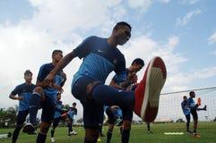 Der Ausbildungslager-Indonesien-Internationalfußball lizenzfreie stockbilder