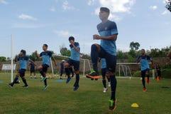 Der Ausbildungslager-Indonesien-Internationalfußball lizenzfreies stockfoto