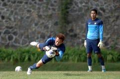 Der Ausbildungslager-Indonesien-Internationalfußball stockfotografie