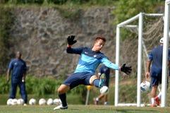 Der Ausbildungslager-Indonesien-Internationalfußball stockfotos