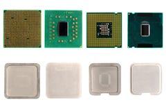 Der auseinandergebaute Computerprozessor Stockbilder