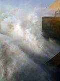 Der Ausgang des Wasserkraftwerks Merowe Stockfotografie