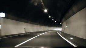 der Ausgang von einem Tunnel stock video