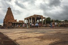 Der ausgezeichnete Brihadeeshwara-Tempel errichtet von Chola Königen, Thanjavur Lizenzfreie Stockfotografie
