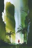 der ausgezeichnete Wasserfall in der Felsenhöhle