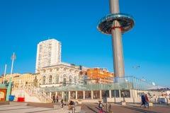 Der Aussichtsturm 360i an Brighton-Strand - BRIGHTON, VEREINIGTES KÖNIGREICH - 27. FEBRUAR 2019 lizenzfreies stockfoto