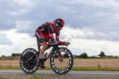 Der australische Radfahrer Evans Cadel Lizenzfreie Stockfotos