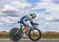 Der australische Radfahrer Simon Gerrans Lizenzfreie Stockfotos