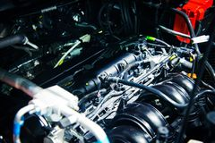 Der Automotor Stockfotografie