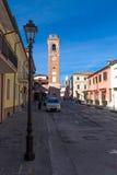Der bürgerliche Turm von montiano Stockfotografie