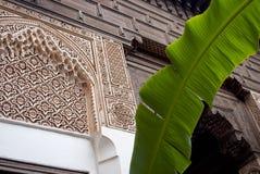 Maurischer Art-Stuck in Marrakesch Lizenzfreies Stockfoto