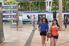 Der Bahnhof des starken Verkehrs lizenzfreie stockbilder