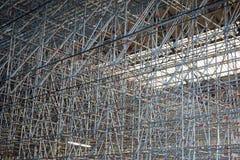 Der Bahnhof mit mit Baugerüst überall, Lizenzfreies Stockfoto